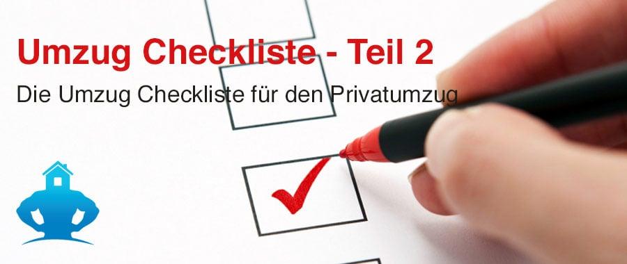 Das Titelbild für die Umzug Checkliste Privatumzug