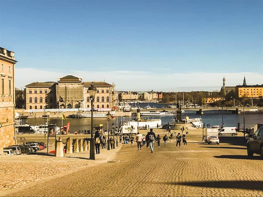 Eindrücke der Stadt bei der Übersiedlung Wien Stockholm.