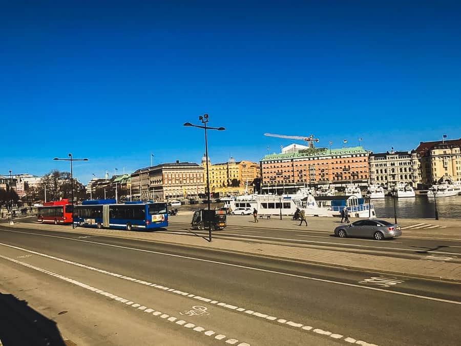 Die Strassen von Stockholm beim Umzug von Wien nach Stockholm.