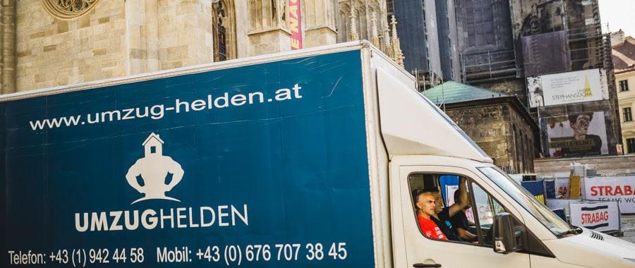 Die UmzugHelden fahren zur Einlade Adresse beim Umzug Wien Innsbruck.