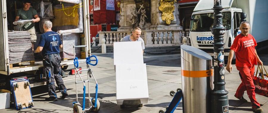 Die UmzugHelden erledigen einen Umzug mit Küche in Wien.