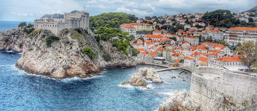 Die wunderschöne Aussicht von Dubrovnik beim Umzug Wien Kroatien.