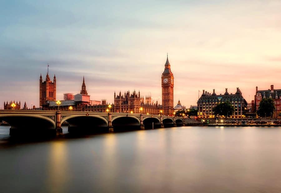Panorama von London, nach erledigtem Umzug Wien London.