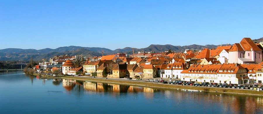 Panorama von Maribor, aufgenommen beim Umzug Wien Maribor mit den UmzugHelden.