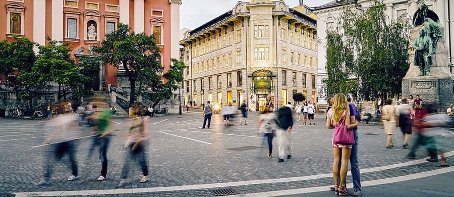 Spaziergang in der Innenstadt nach dem Umzug Wien Ljubljana.