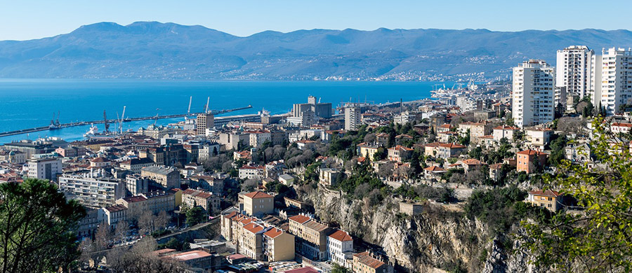 Die Häuser von Rijeka, fotografiert nach dem Umzug Wien Rijeka