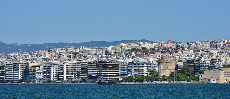 Panorama geniessen während des Umzug Wien Thessaloniki.