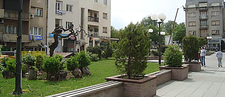 Ein Spaziergang im Zentrum, nach dem Umzug Wien Kumanovo.