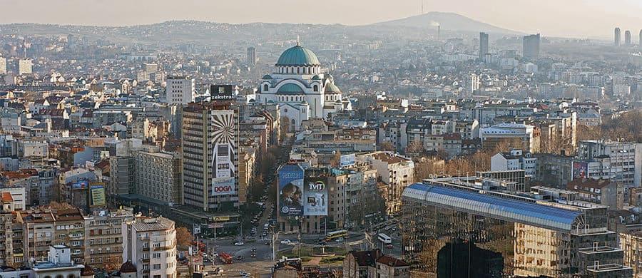 Durch das Zentrum von Belgrad durch, während des Umzug Wien Belgrad.