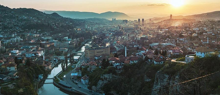 Die Stadt Sarajevo erkundigen, nach dem Umzug Wien Sarajevo.