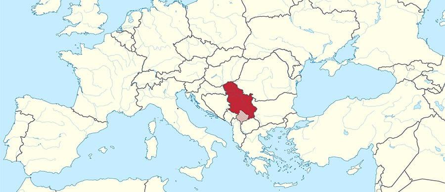 Serbien auf der Mappe erkundigen für den Umzug Wien Serbien.