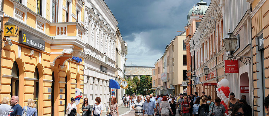 Nach dem Umzug von Wien nach Banja Luka, ein Spaziergang im Zentrum von Banja Luka.