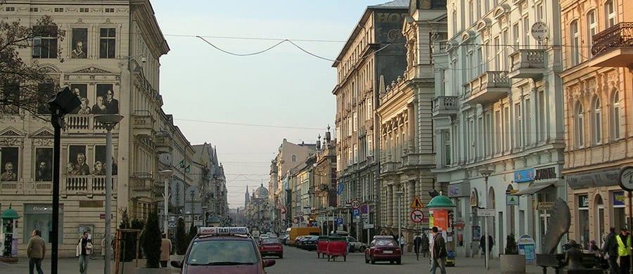 Nach dem Umzug Wien Lodz, in der Piotrkowska Straße spazieren.