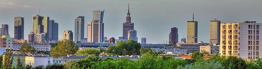 Umzug Wien Warschau erledigen und das Panorama von Warschau geniessen.