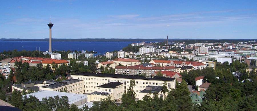 Die Aussicht auf Tampere geniessen, nach dem Umzug Wien Tampere.