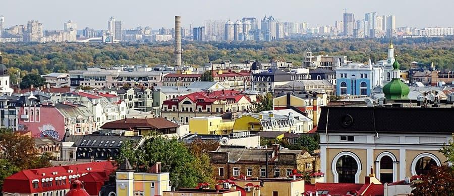 Bestaunen Sie die Architektur und Panorama, nach dem Umzug Wien Kiew.