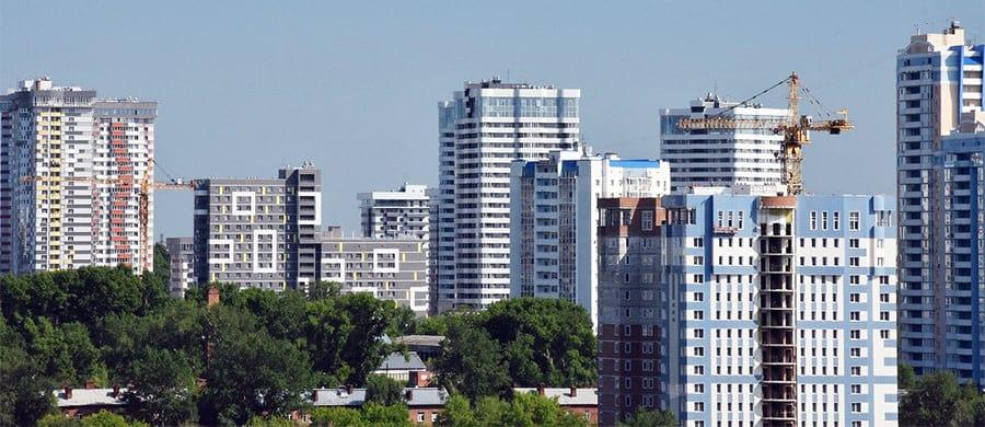 Das Panorama von Nowosibirsk ansehen nach dem Umzug Wien Nowosibirsk.