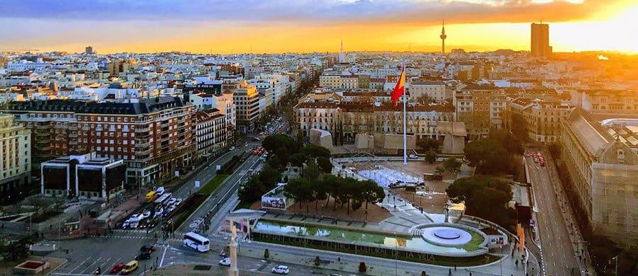 Das Panorama von Madid bestaunen, nach dem Umzug Wien Madrid.