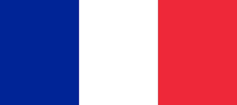 Die Flagge von Frankreich besorgen, nach dem Umzug Wien Frankreich.