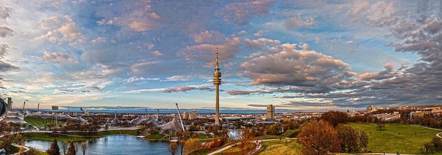Stadtbild von München bestaunen nach der Uebersiedlung Wien Muenchen