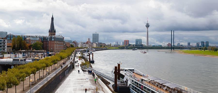 Panorama besichtigen nach dem Umzug von Wien nach Düsseldorf.