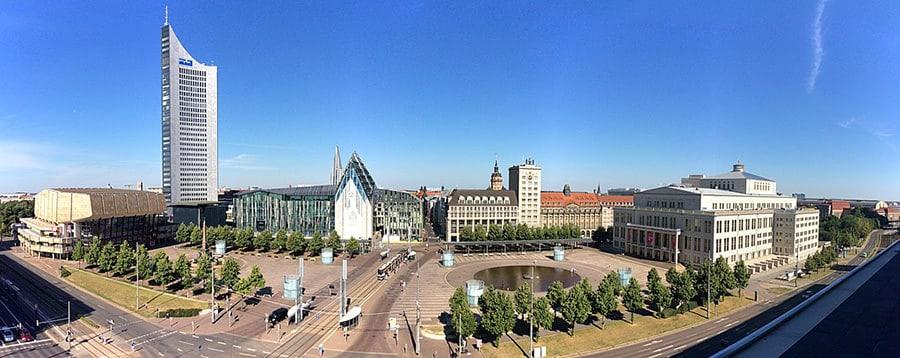 Leipzig Zentrum bestaunen nach dem Umzug von Wien nach Leipzig.