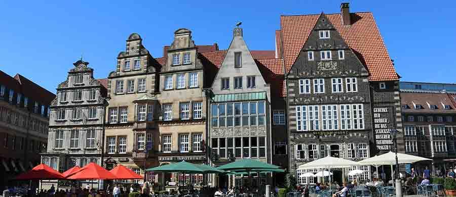Bremens Altstadt geniessen nach dem Umzug von Wien nach Bremen.