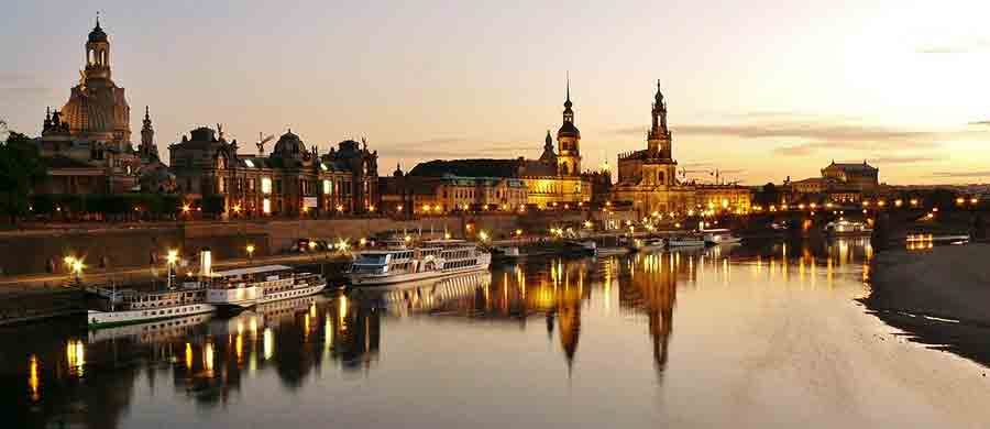 Das Panorama von Dresden besichtigen nach dem Umzug von Wien nach Dresden.