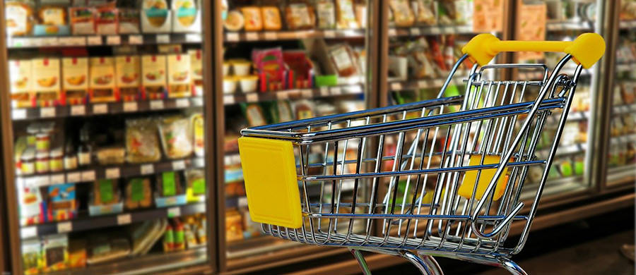 Shopping und einkaufen nach dem Umzug.